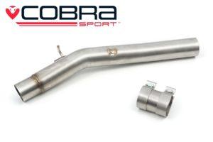 VW Golf R Mk7 / 7.5 Resonator Delete Cobra Exhaust - VW81