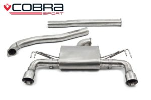 Mitsubishi Evo X Non Resonated Cobra Cat Back Exhaust - MT32