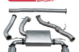Ford Focus RS (MK3) Non Resonated Turbo Back Exhaust with De-Cat - FD89d