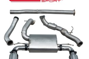 Ford Focus RS (MK3) Non Resonated Turbo Back Exhaust with Sports Cat - FD88b