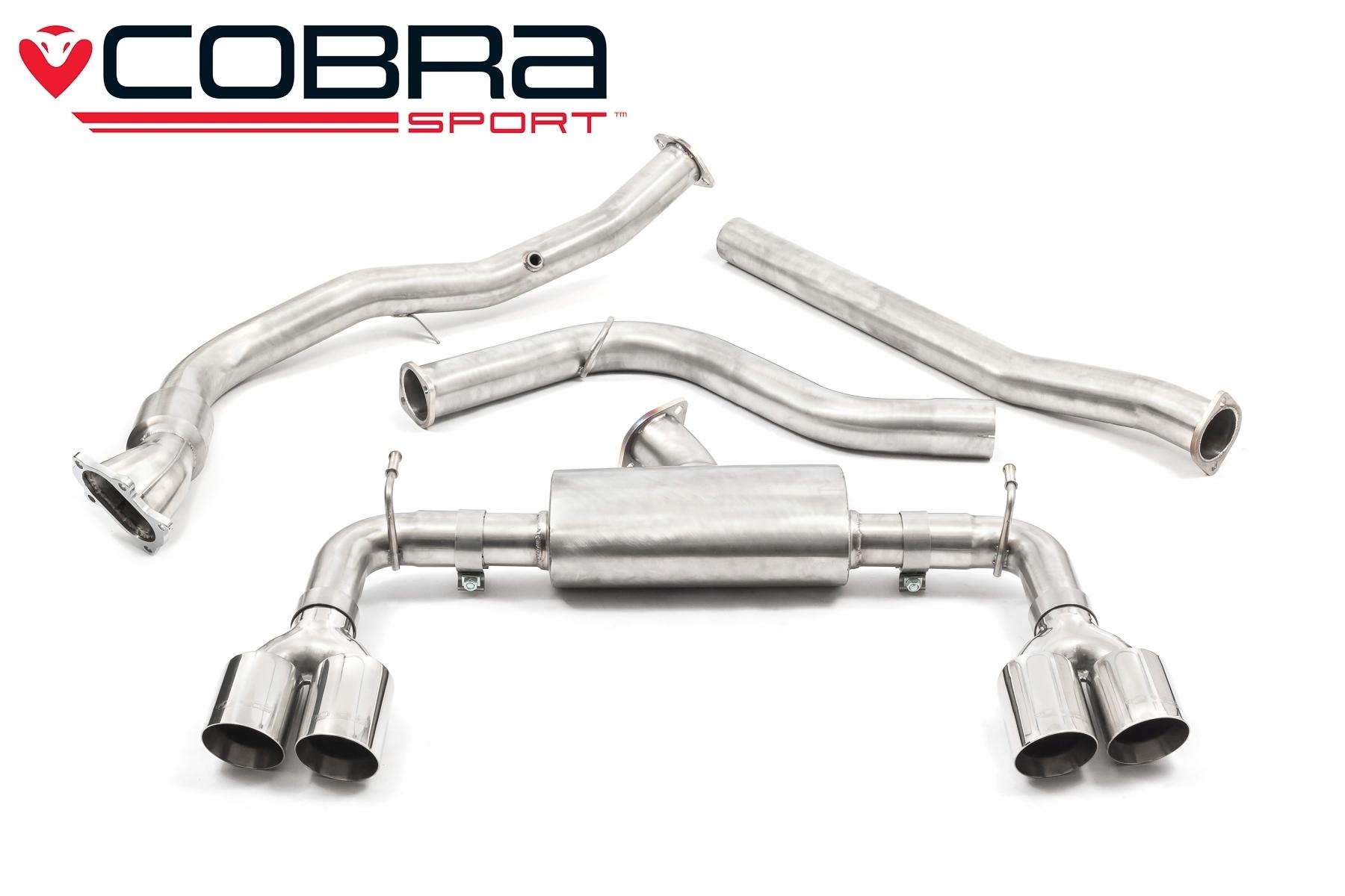 Subaru Impreza STI Turbo Hatchback Cobra Exhaust - SU76b