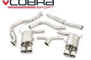 Subaru WRX STI Resonated Sports Cat Turbo Back Performance Exhaust - Cobra Sport SU83a