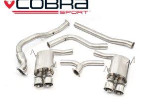 Subaru WRX STI Non Resonated Sports Cat Turbo Back Performance Exhaust - Cobra Sport SU83b