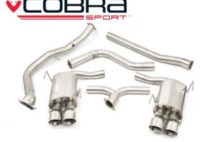 Subaru WRX STI Non Resonated De-Cat Turbo Back Performance Exhaust - Cobra Sport SU83d