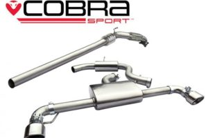 VW Scirocco R Resonated Turbo Back Exhaust with Sports Cat - VW78a