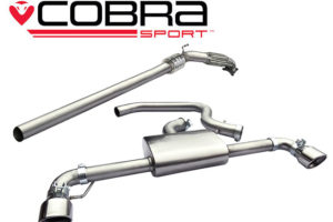 VW Scirocco R Non Res Turbo Back Exhaust with Sports Cat