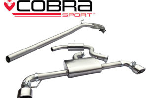 VW Scirocco R Resonated Turbo Back Exhaust with Sports-Cat VW78c