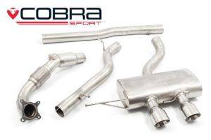 VW Golf R Mk6 Turbo Back Cobra Exhaust with Sports Catalyst - VW27b