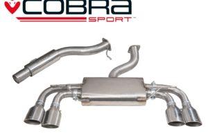 VW Golf R Mk7 Resonated Cat Back Sports Exhaust
